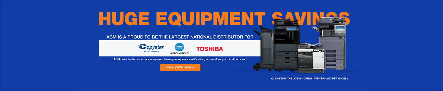 Huge Equipment Savings
