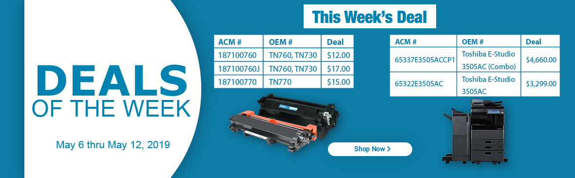 Deal of the Week May_ONE